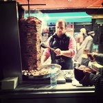 A doner stand along the tour