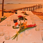sunset colors aroud your table