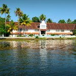the hotel from the chikara ride in the lake