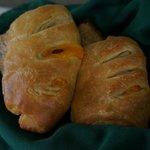 Breakfast delivered to your room: Ham/cheddar croissants