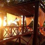 Romantic beach beds