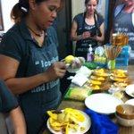 Poo teaching us about Mango Sticky rice