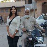 With proprietor Mr Shakoor