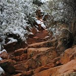 On the trail (steep)