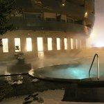 heated outside pool