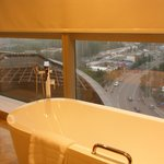 夜景が見える浴室