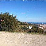 View of Barcelona from mountain trail - running tour with Robin