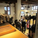Paper making demonstration: a view from above