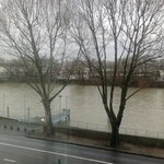 The 'river view' from my room 204.