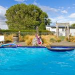 The Woolshed viewed from the swimming pool