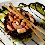 Ensalada con lagostinos