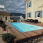 Pool located between pool villas and main building.