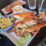 Lunch- grilled King Prawns