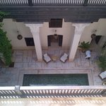 View Into Riad From Roof Terrace
