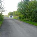 Main entrance to the farm (gate open during visiting hours)