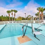 Our heated pool is perfect for soaking up the Florida sunshine