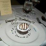 My birthday cake at Babbo.