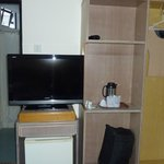 TV, water heater and glasses