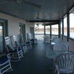 2nd Floor Porch - Great for watching activity on the canal even in the rain!