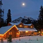 Winter at the Banff Log Cabin