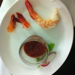 Room service shrimp cocktail