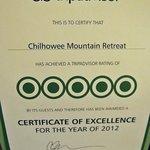 certificado de qualidade da pousada