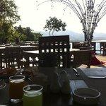 Vista dal ristorante a colazione