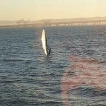 Windsurfer going past our table