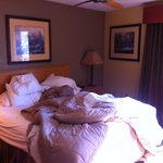 King size bed (does that look small?)