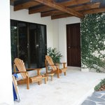 The front outside sitting area of our villas.