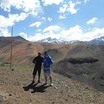 Cordilheira dos Andes...passeio contratado com agência de turismo local e ajud