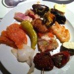 fish buffet, prawn, fish terrine, salmon, smoked fish, smoked hallibut, mussel