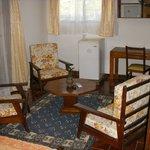 Coté salon de notre chambre à Tamatave