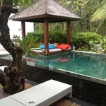 Private pool at our villa.