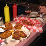 just check out the Potato skins and the Corn Dogs delicious!