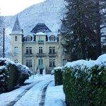 Le Castel de la Pique en hiver.