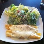 Salmon crepes, soo good.