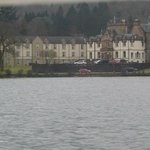 view of Cameron House from the boat