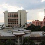 Ocean view behind oceanfront hotels
