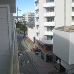 Balcony view, to left.
