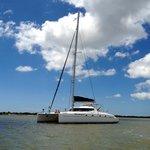Anchored off Morris Island