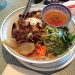 Vermicelli with stir fried beef, I think