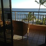Lanai with ocean view, Deluxe Ocean Front room, 4th floor, Ocean Wing, Sheraton Kauai