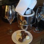 Wine & Chocolate in the Bedroom when we arrived