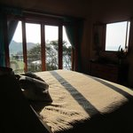 Bedroom of Villa Las Rocas Arriba, SFTS, from which you can see Pacific