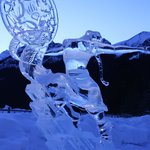 An ice sculputure.