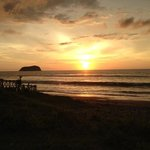 sunset at puerto cayo