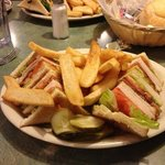 house club sandwich with real thick sliced bacon and turkey breast