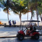 Our rented ride on Isla Mujeres