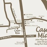 Detail map to get to Casa Mia BnB